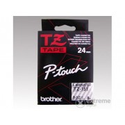 Bandă Brother 24 mm transparent/negru