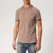 Diesel Men's Randy Broken Polo Shirt - Pink - S - Pink