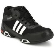 Groofer Men's Black White High Top Boots