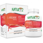Naturyz L-Arginine-1000mg(Pre-workout tablets) Essential Amino Acid 60 Tablets