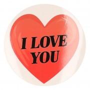 Shoppartners Cadeausticker I Love You hart 9 cm