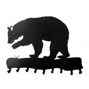 Duży wieszak ubraniowy myśliwski Niedźwiedź ART Apiso 90 x 70 cm