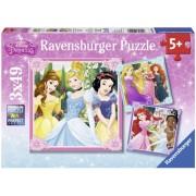 Puzzle printese Disney, 3x49 piese Ravensburger