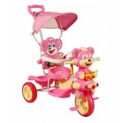 OH BABY HUD SEAT Tricycle with Cycle with Canopy COLOR (PINK)SE-TC-100