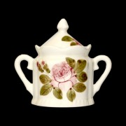 V.K.44-03 Romantik rózsás cukortartó, kerámia, kézzel festett