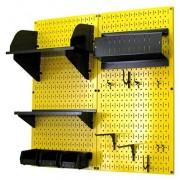 Wall Control 30-CC-200 YB Hobby Craft Pegboard Organizer Storage Kit, Yellow/Black