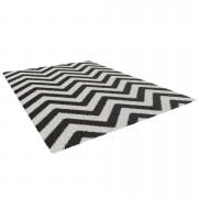 Tapijt Lauria - zwart/wit - 160x230 cm - Leen Bakker