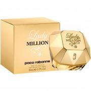 Lady million paco rabanne eau de parfum spray donna 80 ml