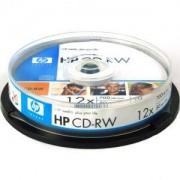 CD-RW HP (Hewlett Pacard) 80min./ 700mb. 12X - 10 бр. в шпиндел