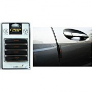 I-Pop - Silky Black Car Door Scratch Guard Protector (Pack Of 4) For Toyota Etios