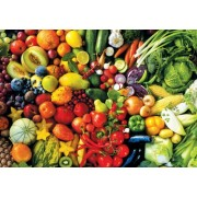 Fresh Fruits and Vegetables - 1500 Piece Jigsaw Puzzle Colorluxe Series by Lafayette Puzzle Factory
