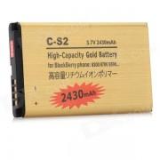 do-S2-GD 2430 mah 3.7 V bateria de litio de repuesto para blackberry C-S2-dorado