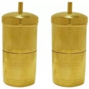 GESTIONE South Indian Drip Style Pure Brass Coffee Filter 250 ml and Brass (PACK OF 2) Indian Coffee Filter(250 ml)