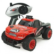 SZJJX RC Cars 1/16 Scale 2WD High Speed Vehicle 15MPH+ 2.4Ghz Radio Remote Control Off Road Racing Monster Crawler Trucks Fast Electric Race Buggy with LED Light and Sound SJ1504 Red