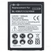Decodificado bateria del li-ion de 3.85V 3000mAh para LG V10 - negro + blanco