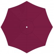 Paramondo Poszycie parasola przeciwsłonecznego interpara, okrągłe, 3,5 m, bordowe