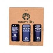Renovality Original Series confezione regalo siero detergente 200 ml + siero viso Hyaluron Serum 50 ml + acqua di rose Rose Water 100 ml donna
