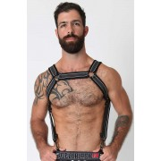 CellBlock 13 Rogue Neoprene Harness White/Grey/Black CBS083