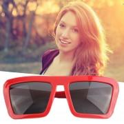 EY YJ0033 Grandes Hombres Europeos Y Americanos Y Las Mujeres Ladygaga Retro Gafas De Sol De La Caja De Negro Grandes Gafas De Sol Rojas