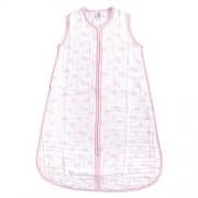 Yoga Sprout Saco de Dormir Unisex de algodón sin Mangas, para bebé, diseño de Cielo, Color Rosa, 12-18 Meses