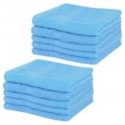 vidaXL Sada ručníků pro hosty 10 ks bavlna 360 g/m² 30 x 30 cm modrá