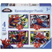 Puzzle Spiderman, 4 buc in cutie, 12/16/20/24 piese Ravensburger
