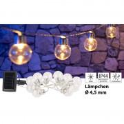 Lunartec Solar-LED-Lichterkette mit 10 LED Glühbirnen, 1,8 Meter, IP44
