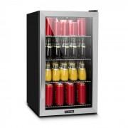 Beersafe 4XL Kühlschrank Getränkekühlschrank 124 Liter: 132 Dosen 4 verchromte Metalleinlegeböden gradweise einstellbare Innentemperatur von 0 bis 10 °C doppelt isolierte Glastür Energieeffizienzklasse A+ freistehend Edelstahlfront Silber   124 Liter / 13