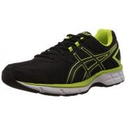 Asics Men's Gel Galaxy Black, Onyx and Flash Yellow Mesh Running Shoes - 7 UK