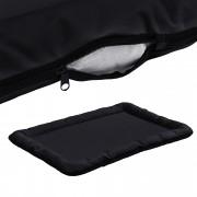 [en.casa]® Pelíšek - pro kočičky a pejsky - se zipem - oxford látka / PP-bavlna - 100 x 70 cm [XL] - černý
