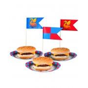 12 stk Flaggor till Mat och Tårtor - Riddare och Drakar