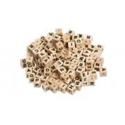 Sunnysue Buchstabenperlen aus Holz, 300 Stück