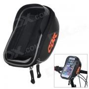 CBR CBR-010 Bicicleta manillar montado en pantalla tactil de la bolsa bolsa de telefono con el escudo brillo - Negro