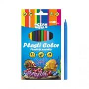 Plastické pastelky Plasti Color Ocean World - sada 12 ks()