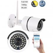 7links Wetterfeste WLAN-IP-Kamera mit Full HD 1080p und IR-Nachtsicht, IP66