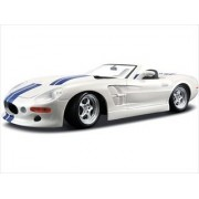 1999 Shelby Series 1 White W/Blue Stripes 1/18 by Maisto 31142