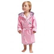Nelinka lánykafürdőköpeny, rózsaszín, cicás 98