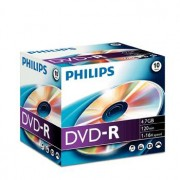 Philips DVD-R 4,7GB 16X Jewel Case (10 unidades)