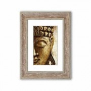 East Urban Home 'Buddha 24' Framed Graphic Art East Urban Home Size: 70 cm H x 50 cm W, Frame Options: Grey - Size: 70 cm H x 50 cm W