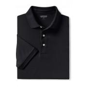ランズエンド LANDS' END メンズ・スーピマ・インターロック・ポロ/無地/半袖/ポロシャツ(ブラック)