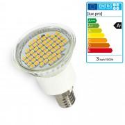 PremiumXL - [lux.pro] 5 kom. - LED žarulja E14 - štedna žarulja - 3 Watt - toplo bijela
