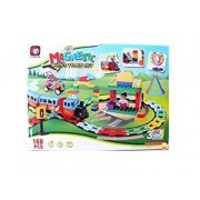 Powerpak Xinbida Magical Magnet-168Pcs Magnetic Building Blocks 3D Puzzle Train Set Learning Toy For Kids (No.9168A)