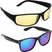 Aligatorr Retro Square, Wayfarer Sunglasses(For Boys & Girls)