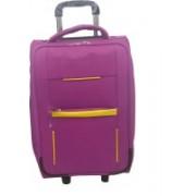 Aqeeq Stylish Pilot Cabin Classic Small Travel Trolley Bag (Black,Blue,Grey,Purple,Red,Navy Blue) Cabin Luggage - 18 inch(Purple)