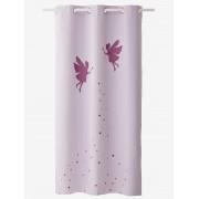 VERTBAUDET Cortinado opaco, tema Pequena fada violeta claro liso com motivo
