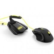 Мишка комплект Sharkoon Shark Zone M51+ (Mouse SHARK ZONE M51 + Stand SHARK ZONE MB10 GAMING BUNGEE HUB), гейминг, оптична (8200 dpi), програмируеми бутони, USB, подсветка, черна