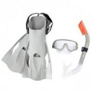 Комплект за гмуркане с плавници BESTWAY Hydro Swim 25020 - сив, BW25020-grey