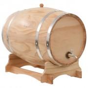 vidaXL Бъчва за вино с канелка, борова дървесина масив, 35 л