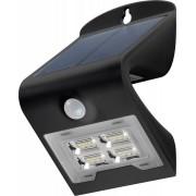 Lampada LED Solare a Muro 2W IP65 Sensore di Movimento Nero