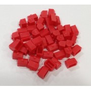 Plastic Houses: Red Color Monopoly Replacement House (Colored Miniature Town & City Buildings